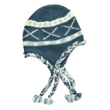 Auclair Wool Tie Hat - Ear Flaps, Fleece Lining (For Women) in Oltremare - Closeouts
