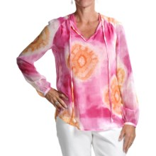 Audrey Talbott Abby Tie-Dye Tunic Shirt - Silk, Long Sleeve (For Women) in Multi - Closeouts