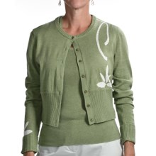 Audrey Talbott Aloe Crop Cardigan Sweater (For Women) in Jojoba - Closeouts