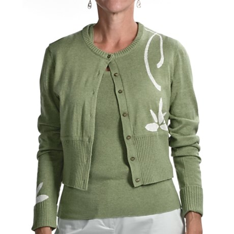 Audrey Talbott Aloe Crop Cardigan Sweater (For Women) in Jojoba