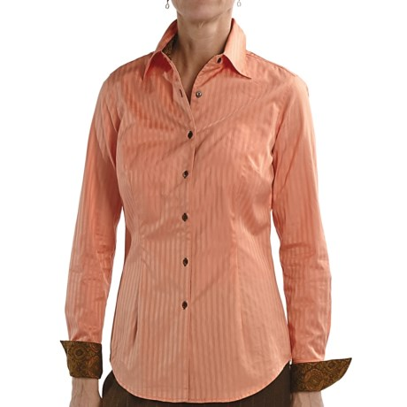 Audrey Talbott Aly Classic Shirt - Stretch Cotton, Long Sleeve (For Women) in Terrior