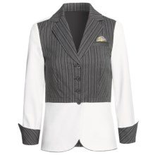 Audrey Talbott Audrey Jacket - Contrast (For Women) in White/Black - Closeouts