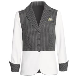 Audrey Talbott Audrey Jacket - Contrast (For Women) in White/Black