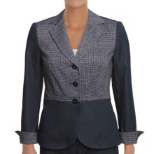 Audrey Talbott Audrey Jacket- Cross-Hatch (For Women) in Navy/White - Closeouts