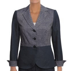 Audrey Talbott Audrey Jacket- Cross-Hatch (For Women) in Navy/White