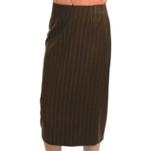 Audrey Talbott Broken-Stripe Pencil Skirt - Wool-Cashmere (For Women) in Terrior - Closeouts