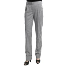 Audrey Talbott Chris Pleated Pants - High-Twist Wool, Stretch (For Women) in Platinum - Closeouts