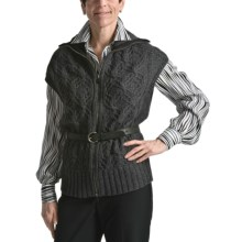 Audrey Talbott Cocoon Vest - Novelty Stitch, Zip Front (For Women) in 90 Anthracite - Closeouts