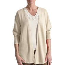 Audrey Talbott Diagonal Cardigan Sweater - 3/4 Sleeve (For Women) in Brie - Closeouts
