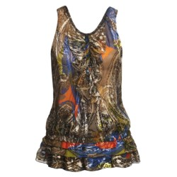 Audrey Talbott Georgette Shirt - Ruffle Front, Sleeveless (For Women) in Multi