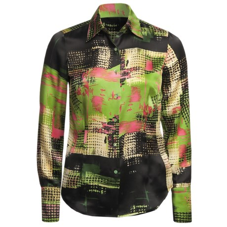 Audrey Talbott Getaway Print Lana Shirt - Silk, Long Sleeve (For Women) in Multi