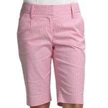 Audrey Talbott Hanky Stripe Shorts - Stretch Cotton (For Women) in Guava - Closeouts