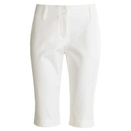 Audrey Talbott Hanky Walking Shorts - Cotton (For Women) in White