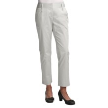 Audrey Talbott Hapri Ankle Pants - Stretch Cotton (For Women) in White Lava - Closeouts
