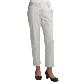 Audrey Talbott Hapri Ankle Pants - Stretch Cotton (For Women) in White Lava