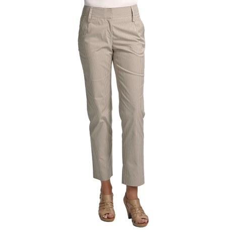 Audrey Talbott Hapri Ankle Pants - Striped Cotton (For Women) in Chino