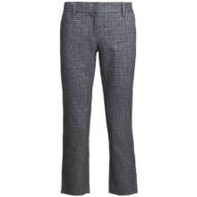 Audrey Talbott Hapri Crosshatch Ankle Pants - Cotton-Linen (For Women) in Regatta/White - Closeouts
