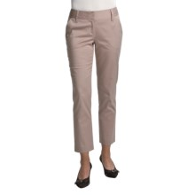 Audrey Talbott Harpi Ankle Pants - Stretch Cotton (For Women) in Khaki - Closeouts