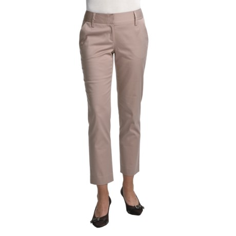 Audrey Talbott Harpi Ankle Pants - Stretch Cotton (For Women) in Khaki