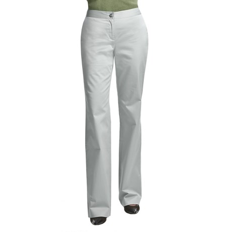 Audrey Talbott Hathaway Pants - Trouser Leg, Stretch Cotton (For Women) in White Lava