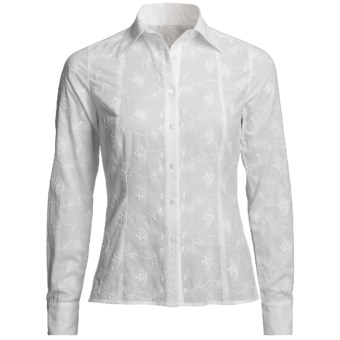 Audrey Talbott Judith Shirt - Embroidered, Long Sleeve (For Women) in White