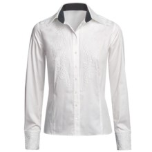 Audrey Talbott Kerry Shirt - Embroidered, Long Sleeve (For Women) in White - Closeouts