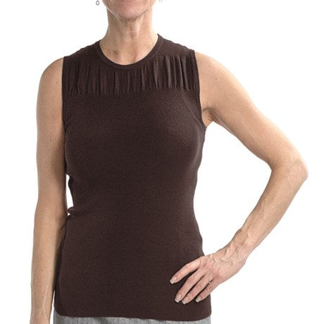 Audrey Talbott Lex Knit Tank Top - Cotton-Silk-Cashmere (For Women) in Dark Terrior