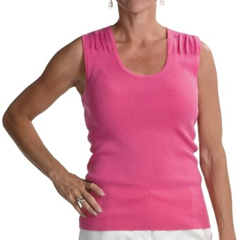 Audrey Talbott Lexa Knit Shell - Cotton (For Women) in Guava