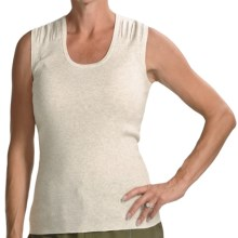 Audrey Talbott Lexz Ruched Shell - Sleeveless (For Women) in White Lava - Closeouts