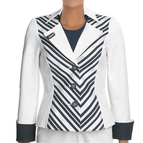 Audrey Talbott Maggie Jacket- Neckwear-Trim (For Women) in Regatta