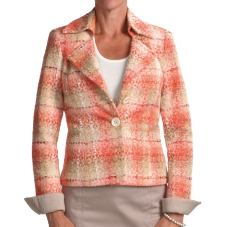 Audrey Talbott Maggie Tweed Jacket (For Women) in Mango