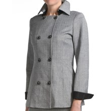 Audrey Talbott Margete Herringbone Jacket - Double Breasted (For Women) in Black Multi - Closeouts