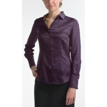 Audrey Talbott Marybeth Silk Blouse - Long Sleeve (For Women) in Purple - Closeouts