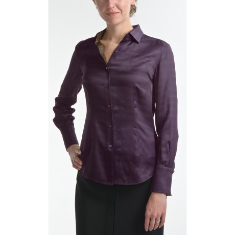 Audrey Talbott Marybeth Silk Blouse - Long Sleeve (For Women) in Purple