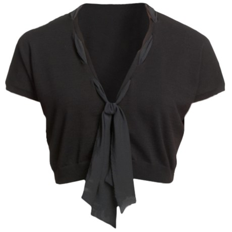 Audrey Talbott Mildred Scarf Shrug - Cotton (For Women) in Black