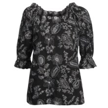 Audrey Talbott Parker Tunic Shirt - Embroidered, Long Sleeve (For Women) in Black - Closeouts