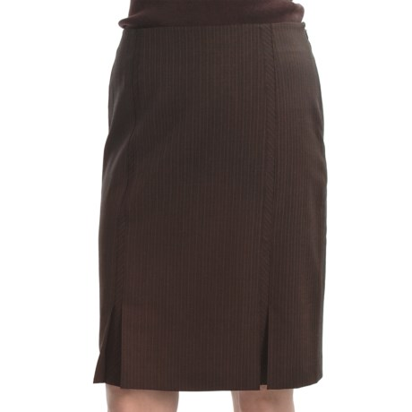 Audrey Talbott Pinstripe Pencil Skirt - Bias Insets (For Women) in Port Multi
