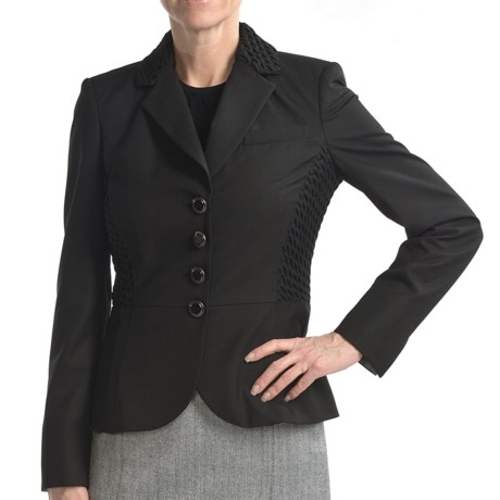 Audrey Talbott Quilted Collar Jacket - (For Women) in Black