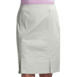 Audrey Talbott Rielle Pencil Skirt - Stretch Cotton (For Women) in White Lava