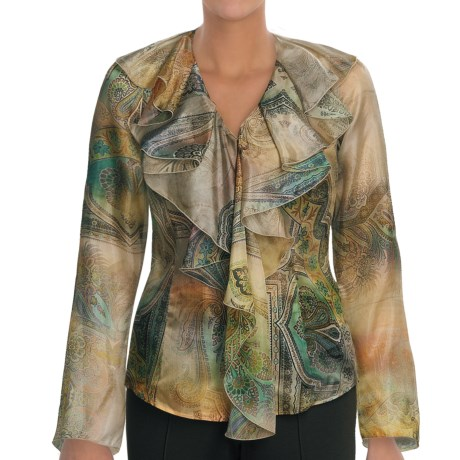 Audrey Talbott Roxanna Shirt - Silk, Long Sleeve (For Women) in Multi