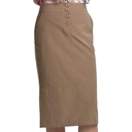 Audrey Talbott Sally Button-Fly Skirt - Cotton-Nylon (For Women) in Chino