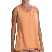 Audrey Talbott Sheila Cotton Knit Shirt - Sleeveless (For Women) in Mango - Closeouts