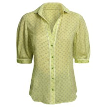 Audrey Talbott Silk Blouse - Polka Dot, Elbow Sleeve (For Women) in Kiwi - Closeouts