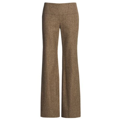 Audrey Talbott Stretch Tweed Pants - Wool Blend (For Women) in Brown Multi