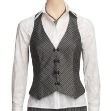 Audrey Talbott Thomas Vest - Pinstripe, Racerback (For Women) in Black/White - Closeouts