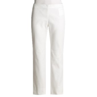 Audrey Talbott Twill Pants - Stretch Cotton (For Women) in White