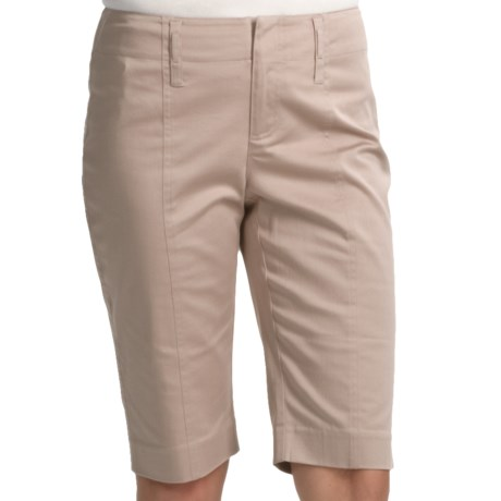Audrey Talbott Wills Shorts - Stretch Cotton (For Women) in Khaki