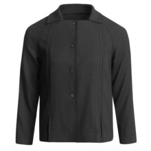 Audrey Talbott Wool-Blend Crepe Jacket - Bracelet Sleeve (For Women) in Black - Closeouts