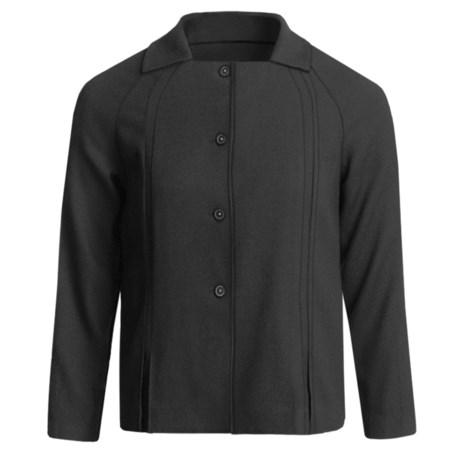 Audrey Talbott Wool-Blend Crepe Jacket - Bracelet Sleeve (For Women) in Black