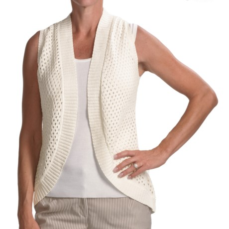Audrey Talbott Zoe Racerback Vest - Mercerized Cotton (For Women) in White